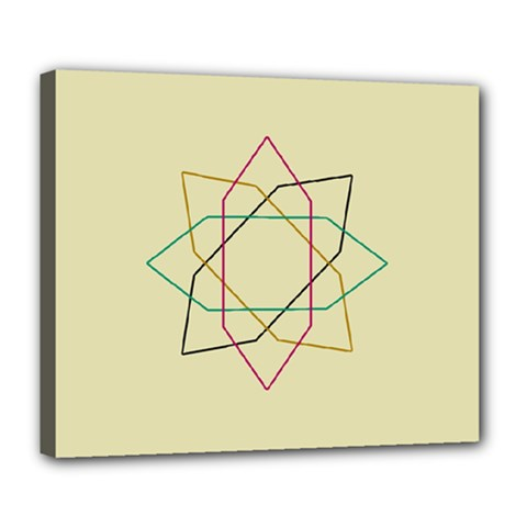 Shape Experimen Geometric Star Sign Deluxe Canvas 24  X 20   by Alisyart