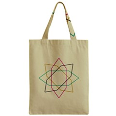 Shape Experimen Geometric Star Sign Zipper Classic Tote Bag by Alisyart