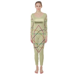Shape Experimen Geometric Star Sign Long Sleeve Catsuit