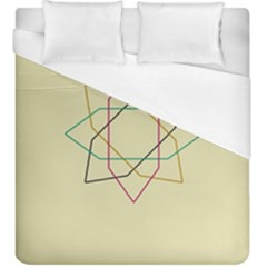Shape Experimen Geometric Star Sign Duvet Cover (king Size)