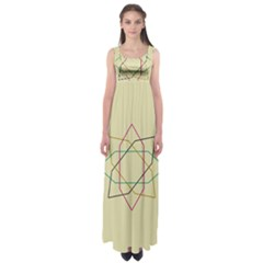 Shape Experimen Geometric Star Sign Empire Waist Maxi Dress
