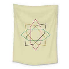 Shape Experimen Geometric Star Sign Medium Tapestry by Alisyart