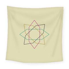 Shape Experimen Geometric Star Sign Square Tapestry (large) by Alisyart