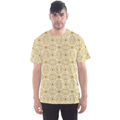 Gold Geometric Plaid Circle Men s Sport Mesh Tee