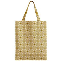 Gold Geometric Plaid Circle Classic Tote Bag