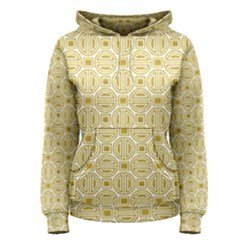 Gold Geometric Plaid Circle Women s Pullover Hoodie