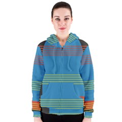 Sketches Tone Red Yellow Blue Black Musical Scale Women s Zipper Hoodie