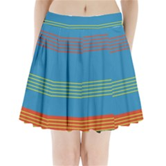 Sketches Tone Red Yellow Blue Black Musical Scale Pleated Mini Skirt by Alisyart