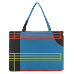 Sketches Tone Red Yellow Blue Black Musical Scale Medium Zipper Tote Bag by Alisyart