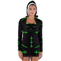 Sniper Focus Women s Long Sleeve Hooded T-shirt by Alisyart