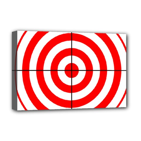 Sniper Focus Target Round Red Deluxe Canvas 18  X 12