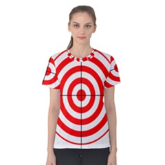 Sniper Focus Target Round Red Women s Cotton Tee by Alisyart