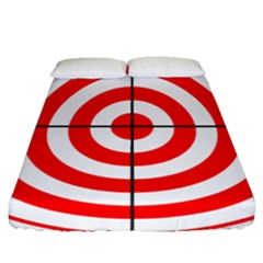 Sniper Focus Target Round Red Fitted Sheet (queen Size)