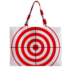 Sniper Focus Target Round Red Zipper Mini Tote Bag by Alisyart