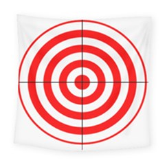 Sniper Focus Target Round Red Square Tapestry (large) by Alisyart