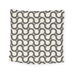 Shutterstock Wave Chevron Grey Square Tapestry (small) by Alisyart