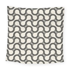 Shutterstock Wave Chevron Grey Square Tapestry (large) by Alisyart