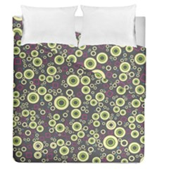 Ring Circle Plaid Green Pink Blue Duvet Cover Double Side (queen Size) by Alisyart