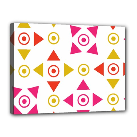 Spectrum Styles Pink Nyellow Orange Gold Canvas 16  X 12