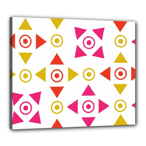 Spectrum Styles Pink Nyellow Orange Gold Canvas 24  X 20  by Alisyart