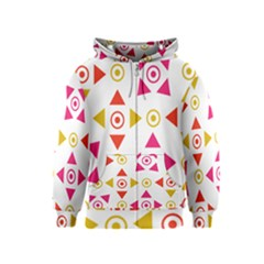 Spectrum Styles Pink Nyellow Orange Gold Kids  Zipper Hoodie by Alisyart