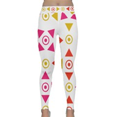 Spectrum Styles Pink Nyellow Orange Gold Classic Yoga Leggings