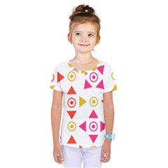 Spectrum Styles Pink Nyellow Orange Gold Kids  One Piece Tee