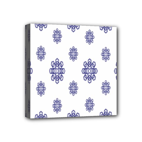 Snow Blue White Cool Mini Canvas 4  X 4  by Alisyart