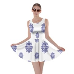 Snow Blue White Cool Skater Dress by Alisyart