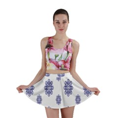 Snow Blue White Cool Mini Skirt by Alisyart