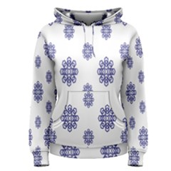 Snow Blue White Cool Women s Pullover Hoodie