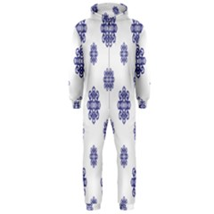 Snow Blue White Cool Hooded Jumpsuit (men)
