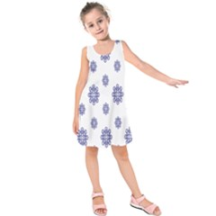 Snow Blue White Cool Kids  Sleeveless Dress by Alisyart
