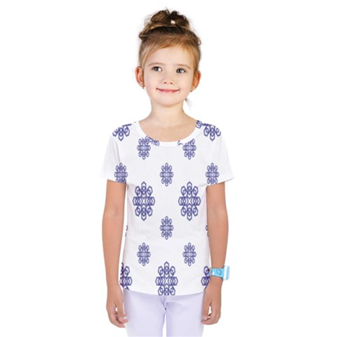 Snow Blue White Cool Kids  One Piece Tee by Alisyart