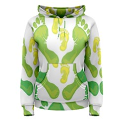 Soles Feet Green Yellow Family Women s Pullover Hoodie