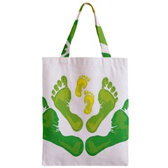 Soles Feet Green Yellow Family Zipper Classic Tote Bag by Alisyart