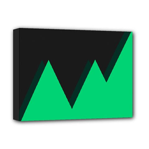 Soaring Mountains Nexus Black Green Deluxe Canvas 16  X 12   by Alisyart