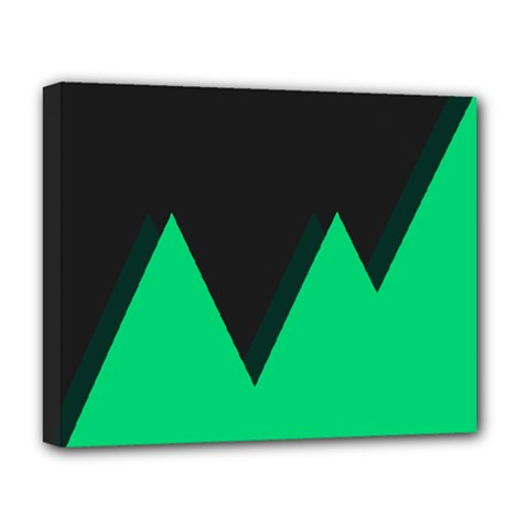 Soaring Mountains Nexus Black Green Deluxe Canvas 20  X 16   by Alisyart