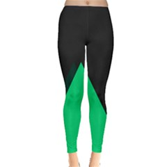 Soaring Mountains Nexus Black Green Leggings  by Alisyart