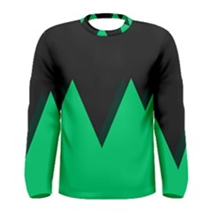 Soaring Mountains Nexus Black Green Men s Long Sleeve Tee by Alisyart