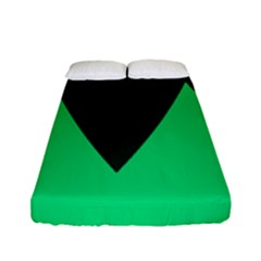 Soaring Mountains Nexus Black Green Fitted Sheet (full/ Double Size) by Alisyart