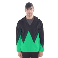 Soaring Mountains Nexus Black Green Hooded Wind Breaker (men) by Alisyart