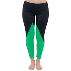 Soaring Mountains Nexus Black Green Classic Winter Leggings