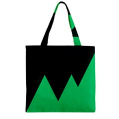 Soaring Mountains Nexus Black Green Zipper Grocery Tote Bag by Alisyart