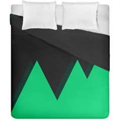 Soaring Mountains Nexus Black Green Duvet Cover Double Side (california King Size) by Alisyart