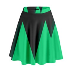 Soaring Mountains Nexus Black Green High Waist Skirt