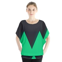 Soaring Mountains Nexus Black Green Blouse by Alisyart