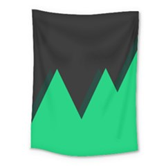 Soaring Mountains Nexus Black Green Medium Tapestry