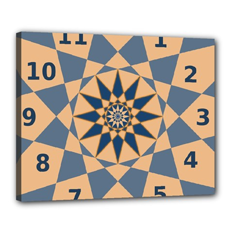 Stellated Regular Dodecagons Center Clock Face Number Star Canvas 20  X 16  by Alisyart