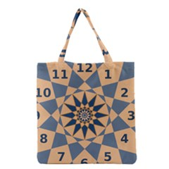 Stellated Regular Dodecagons Center Clock Face Number Star Grocery Tote Bag